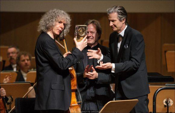 Steven Issleris, Jan Vogler und Thomas Meier (CEO GLASHÜTTE ORIGINAL)