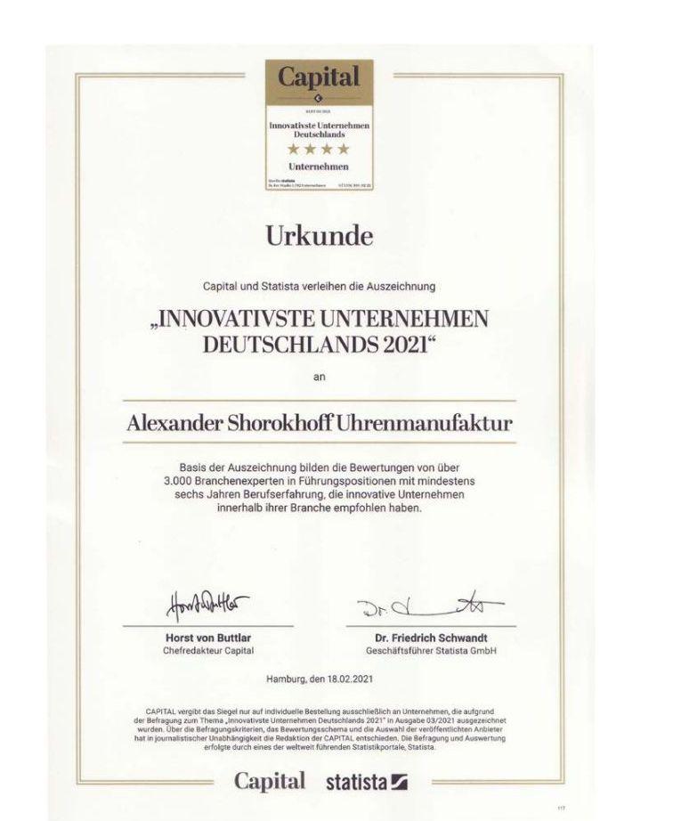 ALEXANDER SHOROKHOFF - Eines der innovativsten Unternehmen Deutschlands